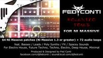 """Native Instruments Massive presets - """"Molextro Tones"""" by Fed Conti Audio Tools"""