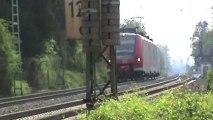 Züge Hammerstein Leutesdorf, Captrain Crossrail 145, Railion 145,MRCE 189, 2x DB 189, 3x 143,3x 425