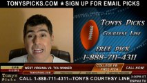 TCU Horned Frogs vs. West Virginia Mountaineers Pick Prediction NCAA College Football Odds Preview 11-2-2013