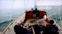 Prince Philip Sailing From Royal Yacht Britannia