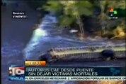 Autobús cae desde puente sin dejar víctimas mortales en EE.UU.