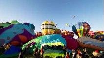 Le 42e festival de montgolfières d'Albuquerque en timelapse