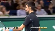 Novak Djokovic vs Stanislas Wawrinka Highlights - BNP Paribas Masters 2013 QF