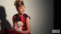 Imogen Poots and Puppies at Vanities Photo Shoot