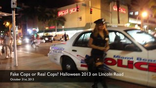 Fake Cops Real Cops or Sexy Cops Halloween 2013 on Lincoln R