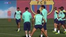 El Barcelona se entrena pensando ya en el duelo de la Liga de Campeones ante el Milan