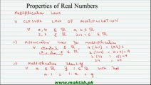 FSc Math Book1, CH 1, LEC 3: Properties of Real Numbers (Part 2)