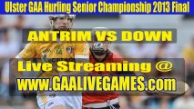 Watch Ulster GAA Hurling Senior Championship 2013 Final Online Antrim vs Down