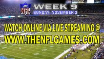 Watch Atlanta Falcons vs Carolina Panthers Live Online Stream November 3, 2013