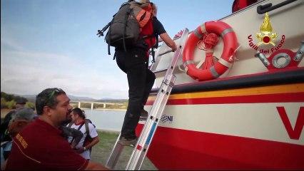 Lago di Bilancino, testato dai Vigli del fuoco nuovo anfibio per soccorso in scenario alluvionaleenario alluvionale