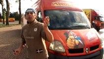 Arrivée des caravanes du cirque Pinder à Paris pelouse de Reuilly 2013 avec Frédéric Edelstein Bois de Vincennes