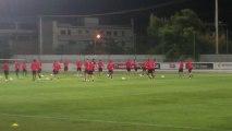 Πλάνα από την προπόνηση του Ολυμπιακού πριν από το ματς με την Μπενφίκα (1)