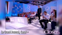 Pierre Lemaïtre simultanément sur le plateau du Grand Journal et de C à vous