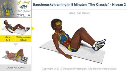 Bauchmuskeltraining in 8 Minuten - Niveau 2