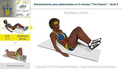 Entrenamiento para abdominales en 8 minutos - Nivel 2