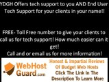 FREE End User Tech Support for web hosting resellers, VPS, and Dedicated Servers