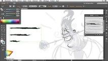 Tutoriel Illustrator CC : Forme artistique dans Illustrator CC   video2brain.com