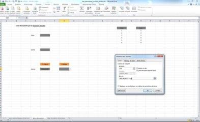 Excel | Liste déroulante avec la fonction Décaler