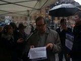 Extrait du discours de Christian Bremilts, administrateur du Club de la presse Nord - Pas de Calais, lors du rassemblement de soutien aux quatre journalistes otages en Syrie, le 6 novembre à Lille