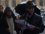 Extrait du discours de Philippe Allienne, administrateur du Club de la presse Nord - Pas de Calais, lors du rassemblement de soutien aux quatre journalistes otages en Syrie, le 6 novembre à Lille