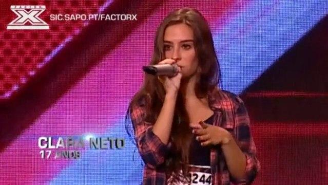 Doce Clara Neto encantou o júri e público do Factor X da SIC com a sua voz