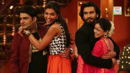 Ranveer Singh Deepika Padukone At Comedy Nights With Kapil - Ram Leela Promotions