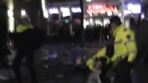 hard fight between the celtic fans and the police (ajax -celtic)