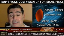 Kentucky Wildcats vs. Missouri Tigers Pick Prediction NCAA College Football Odds Preview 11-9-2013