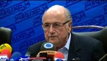 FIFA President Sepp Blatter visits Tehran