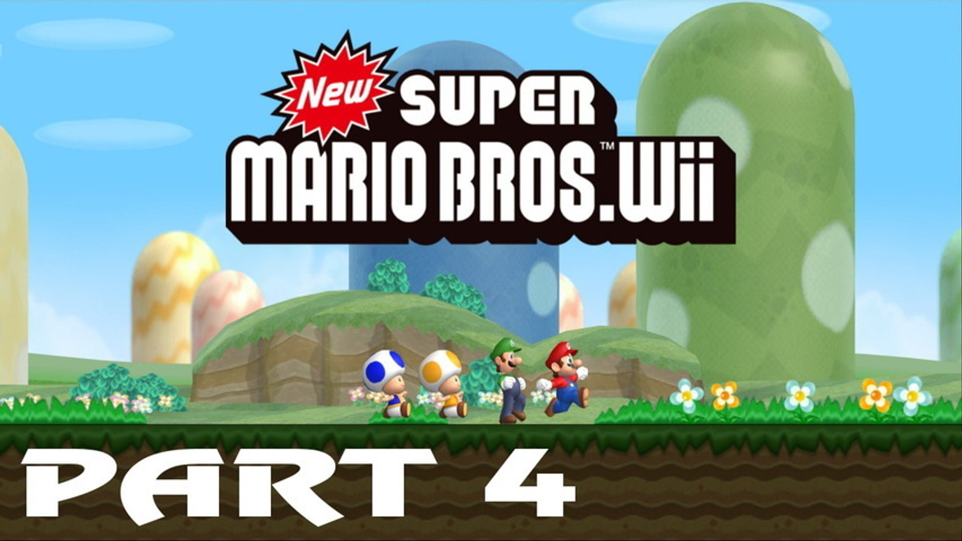 New Super Mario Bros  Wii - Walkthrough Part 4