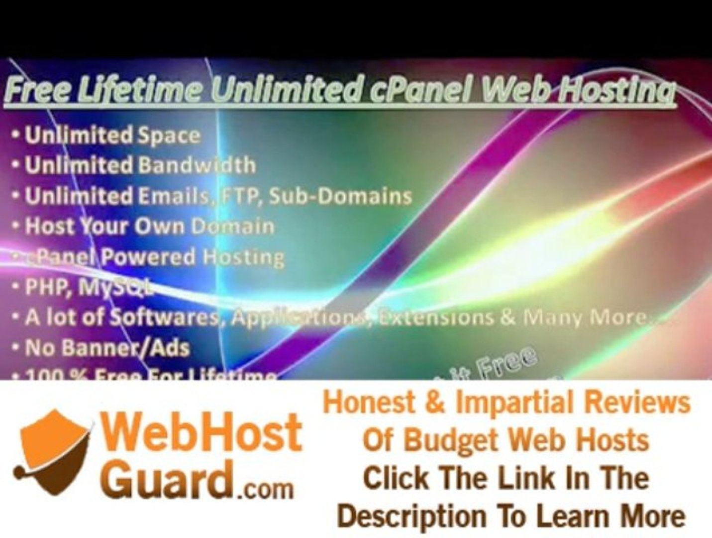 free web hosting with cpanel and unlimited space