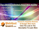 Free Unlimited Lifetime cPanel Web Hosting Unlimited Space, Bandwidth, Emails, FTP, PHP, MySQL
