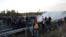 Montauban-de-Bretagne. Les gendarmes mobiles évacuent les derniers manifestants