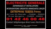 0142460048 - PANNE ELECTRIQUE EN URGENCE PARIS 1er - DEPANNAGE IMMEDIAT 24H/24