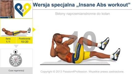"""Wersja specjalna """"Insane Abs workout"""""""