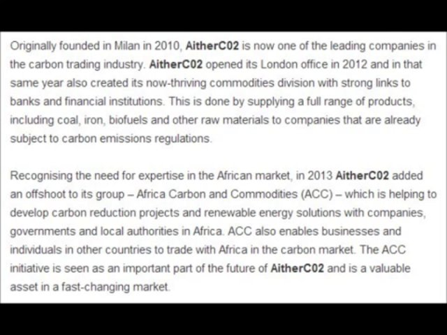 Emissions and Commodities Trading at AitherCo2 l AitherCo2