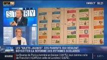 """BFM Story: les """"Gilets jaunes"""": le boycott contre la réforme des rythmes scolaires - 12/11"""