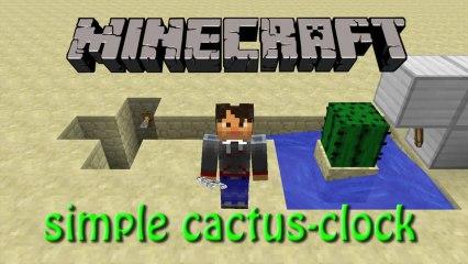 Minecraft: How to build a simple Cactus Clock Tutorial