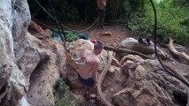 Body Suspension en chute libre dans la jungle