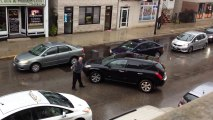 Poorly Attempted HIT and RUN Cab Drive Gets Revenge  Driver Smashes six Cars