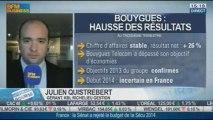 Ouverture en hausse de Bouygues après sa publication trimestrielle: Julien Quistrebert dans Intégrale Bourse - 14/11