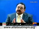 Altaf Hussain makes a strong appeal to people for restraint & display respect for each other in order to maintain sectarian harmony law & order