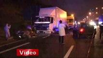 TEM otoyolunda korkunç kaza, 1 ölü 1 yaralı - İhlas Haber Ajansı (İHA)