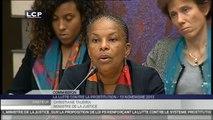 Travaux en séance : Audition de Mme Christiane Taubira, garde des Sceaux, par la commission spéciale chargée d'examiner la proposition de loi renforçant la lutte contre le système prostitutionnel.