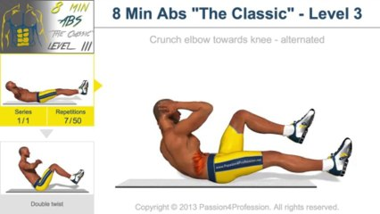 """8 Min Abs """"The Classic"""" - Level 3"""