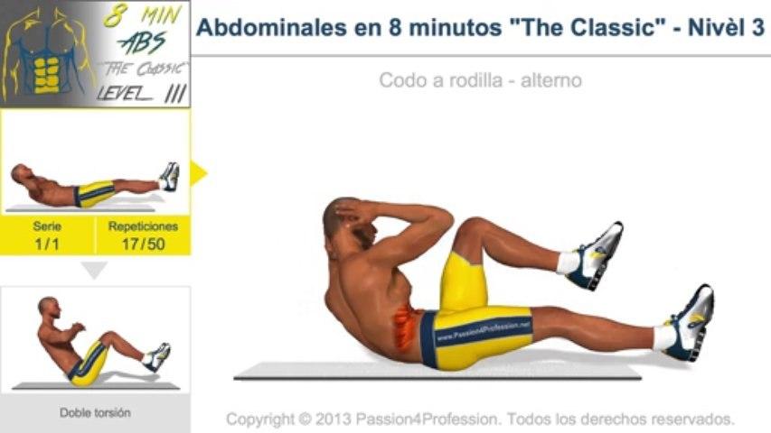 "Abdominales en 8 minutos ""The Classic"" - Nivèl 3"