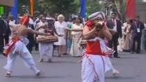 Duchess of Cornwall watches Sri Lankan folk dancers