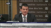Travaux en séance : Audition de Manuel Valls, ministre de l'Intérieur, par la commission spéciale chargée d'examiner la proposition de loi renforçant la lutte contre le système prostitutionnel.