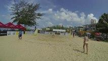USA vs USA film 5 Day-Ross vs Carico Hugues 2:1 22-24 1er set beach-volley Thailande FIVB World Tour