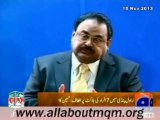 Altaf Hussain expresses sorrow & grief over the loss of lives & properties in sectarian riot in Rawalpindi